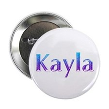 "Glitter Name Kayla 2.25"" Button"