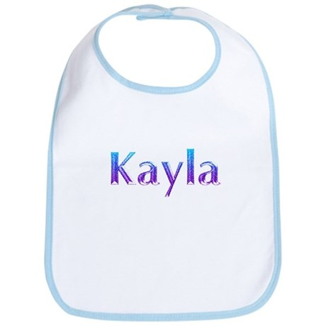 Glitter Name Kayla Bib by snatchit