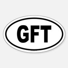 GFT Oval Bumper Stickers