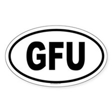 GFU Oval Decal