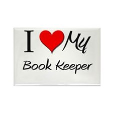 I Heart My Book Keeper Rectangle Magnet