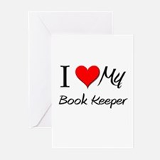 I Heart My Book Keeper Greeting Cards (Pk of 10)