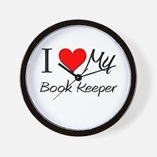 I Heart My Book Keeper Wall Clock