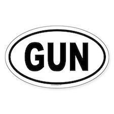 GUN Oval Decal