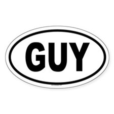 GUY Oval Decal