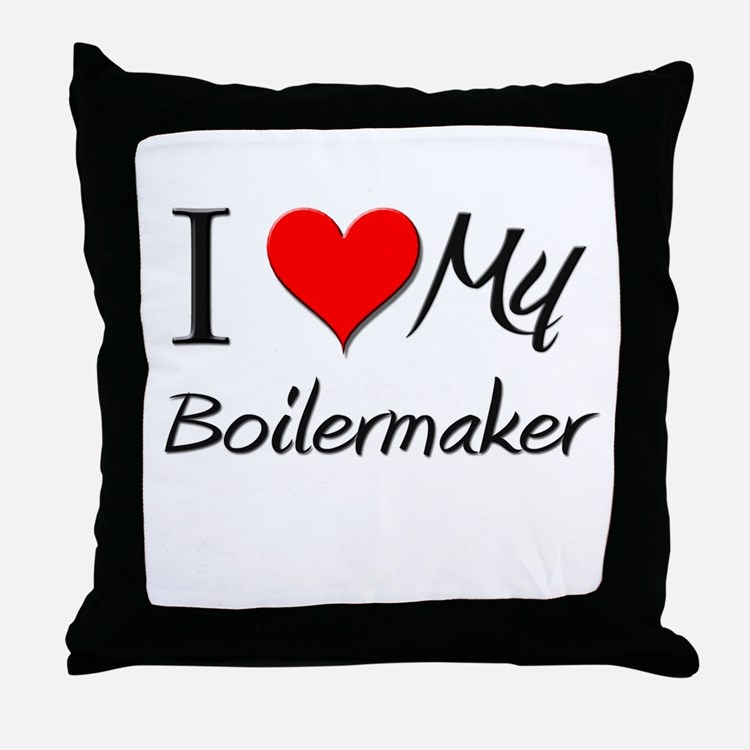 I Heart My Boilermaker Throw Pillow