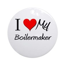 I Heart My Boilermaker Ornament (Round)