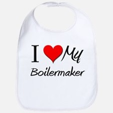I Heart My Boilermaker Bib