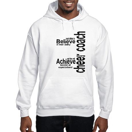 """Cheer Coach """"believe"""" Hooded Sweatshirt"""