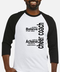 "Cheer Coach ""believe"" Baseball Jersey"