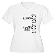 """Cheer Coach """"believe"""" T-Shirt"""
