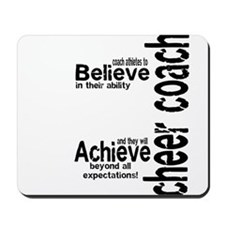 "Cheer Coach ""believe"" Mousepad"