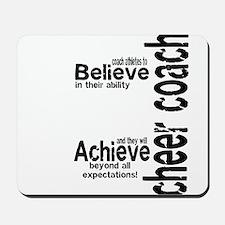 "Cheer Coach ""believe"" Mousepad"