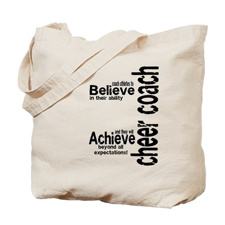 "Cheer Coach ""believe"" Tote Bag"