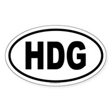 HDG Oval Decal