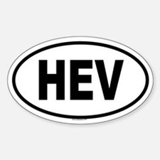 HEV Oval Decal
