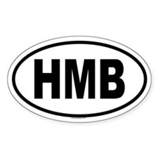 HMB Oval Decal