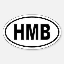 HMB Oval Decal