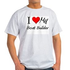 I Heart My Boat Builder T-Shirt