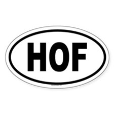 HOF Oval Decal