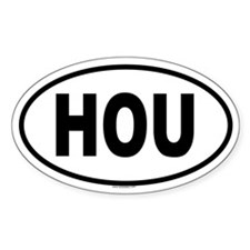 HOU Oval Decal