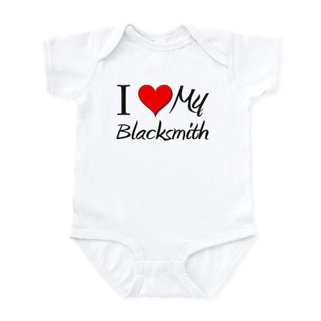 I Heart My Blacksmith Infant Bodysuit