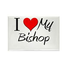 I Heart My Bishop Rectangle Magnet