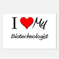 I Heart My Biotechnologist Postcards (Package of 8