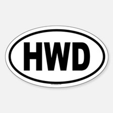 HWD Oval Decal