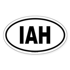 IAH Oval Decal