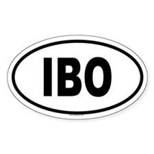 IBO Oval Decal
