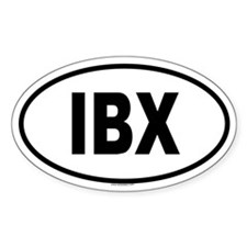 IBX Oval Decal
