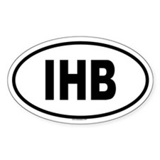 IHB Oval Decal