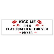 Kiss Me: Flat-Coated Retrieve Bumper Bumper Bumper Sticker