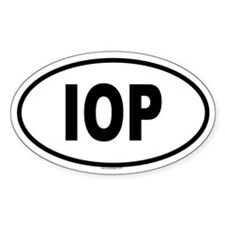 IOP Oval Decal