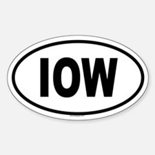 IOW Oval Decal