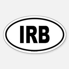 IRB Oval Bumper Stickers