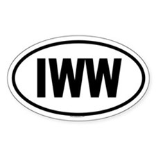 IWW Oval Decal