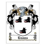 Evans Family Crest Small Poster