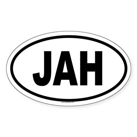 JAH Oval Sticker