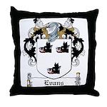 Evans Family Crest Throw Pillow