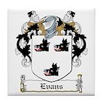 Evans Family Crest Tile Coaster