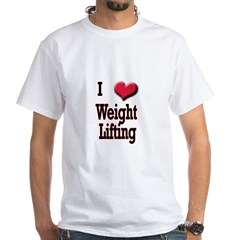 I Love (Heart) Weight Lifting Shirt