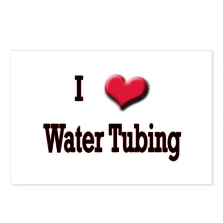 I Love (Heart) Water Tubing Postcards (Package of
