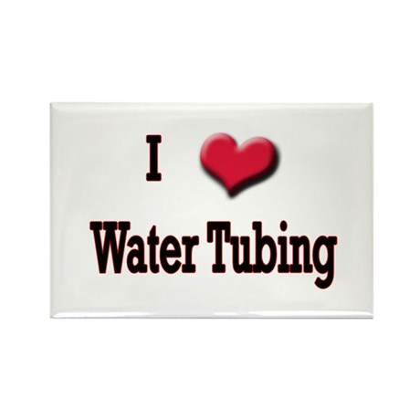 I Love (Heart) Water Tubing Rectangle Magnet