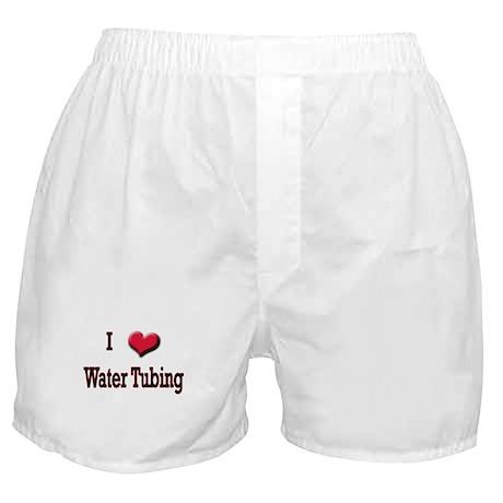 I Love (Heart) Water Tubing Boxer Shorts