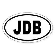 JDB Oval Decal