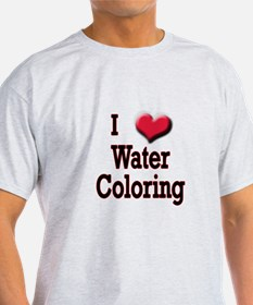 I Love (Heart) Water Coloring T-Shirt