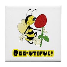 Bee-utiful (Bee) Tile Coaster