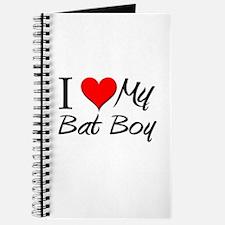 I Heart My Bat Boy Journal
